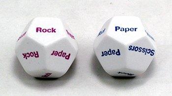 Rock Paper Scissors d12 Dice (2) by Koplow Games