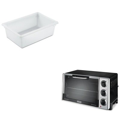 Kitdloro2058Rcp3500Whi - Value Kit - Rubbermaid-White Food Boxes; 12 1/2 Gallon 12 1/2 Gallon (Rcp3500Whi) And Delonghi Convection Oven W/Rotisserie (Dloro2058)