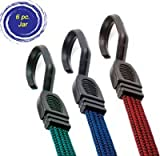 Highland 9002900 Fat Strap Bungee Cord Assortment - 6 Piece