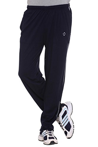 Colors-Blends-Navy-Blue-Cotton-blended-Track-Pants-with-Zipper-Pockets-Size-XL
