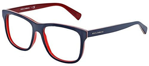 Dolce & Gabbana Dg3206 Eyeglasses-1872 Top Blue On Matte Red-52Mm