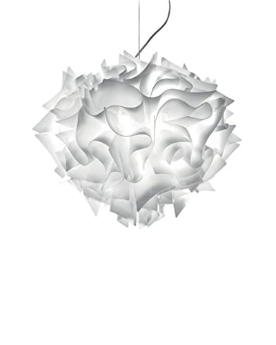 Slamp Lampada A Sospensione Veli S60 Opal Ø60 H 50cm H max190cm