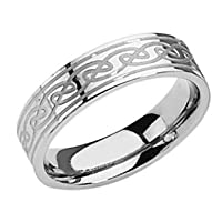 Men's 6mm Celtic Knot Titanium Band