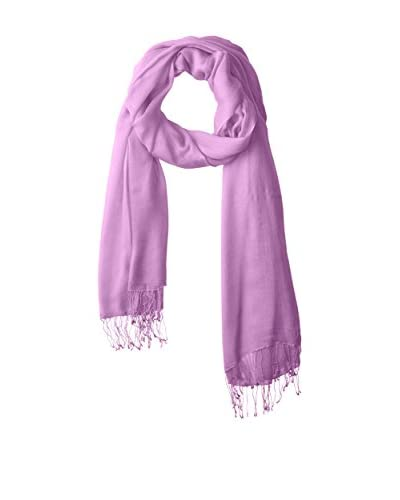 Portolano Women's Scarf with Twisted Fringe, Radiant Orchid