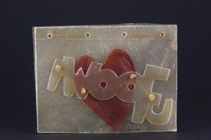 'I Woof U' Valentine Edible Rawhide Greetings