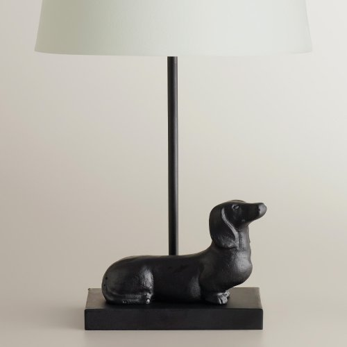 Dachshund accent lamp base a fun treat for dog lovers for Funny lamps for sale