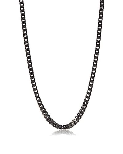 Stephen Oliver Black Plated Cobra Link Necklace, APP 28""