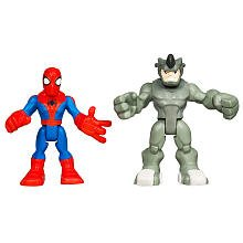 Playskool Marvel Spider-Man Adventures Spider-Man With Rhino Heroes