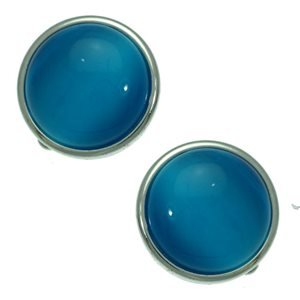 Shandi Silver Turquoise Clip On Earrings