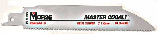 M.K. Morse RB624T50 6-by-3/4-by-0.035-Inch 24 TPI Bi-metal Reciprocating Saw Blade, 50-Pack