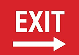 Exit Right Arrow Red Sign - Door Directional Signs