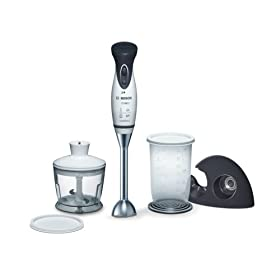 Bosch MSM6A60UC Mixxo Cordless Handheld Blender and Chopper, Black/White