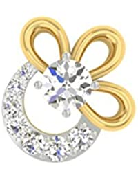 TBZ - The Original Fancy 18k Yellow Gold And Diamond Nosepin - B01BD4N7YC