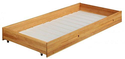 Lina bedbox y compris enroulable lit treillis 90x190. Alderwood biologique