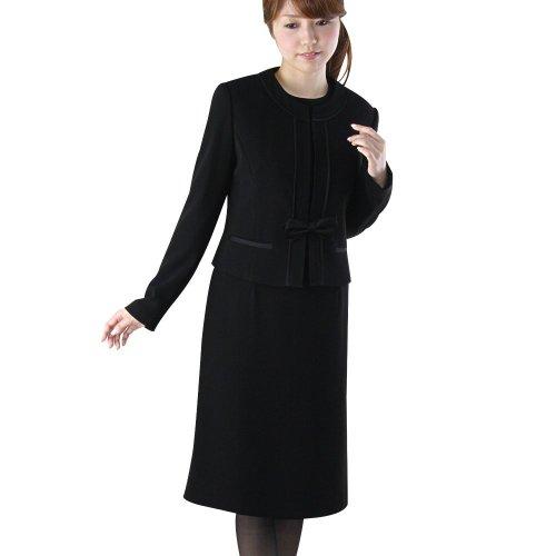 ノーカラーアンサンブルRS-141-903[9号] 女性 スーツ 黒
