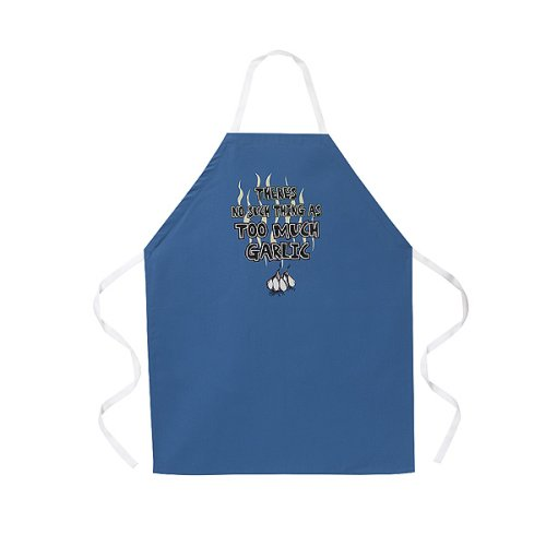 No Such Thing as Too Much Garlic Apron - Blue - Buy No Such Thing as Too Much Garlic Apron - Blue - Purchase No Such Thing as Too Much Garlic Apron - Blue (L.A. Imprints, Home & Garden, Categories, Kitchen & Dining, Kitchen & Table Linens)