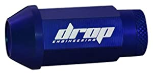 Drop Engineering ALG-BL-15 Blue Aluminum Lug Nut (M12 x 1.5 Thread Size) - Set of 16