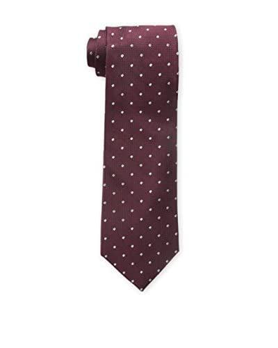 Bruno Piattelli Men's Classic Dot Solid Tie, Burgundy