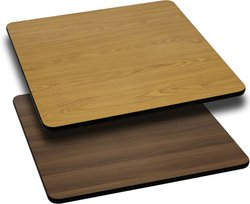 Flash Furniture Home Indoor 30'' Commercial Square Table Top With Natural Or Walnut Reversible Laminate Top