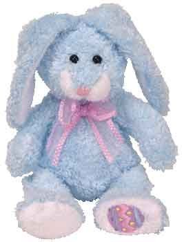 Ty Beanie Baby - Happily the Blue Bunny (Hallmark Gold Crown Exclusive) [Toy]