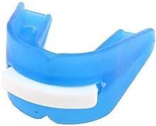 Deportes Boxeo Doble Cara Silicona Protector Bucal Tooth Protector Azul
