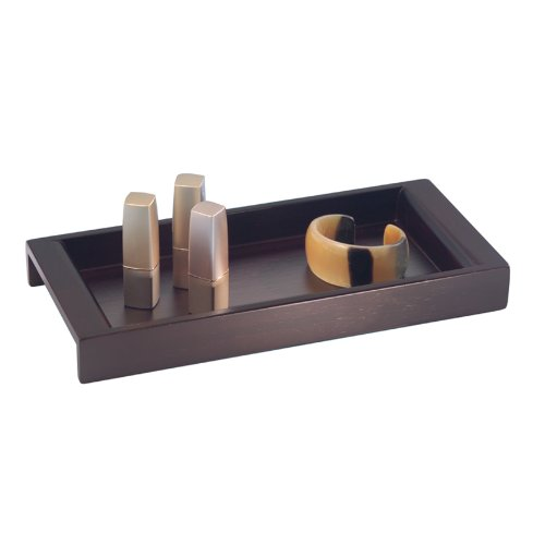 Interdesign formbu eco vanity tray espresso home garden for Bathroom tray decor