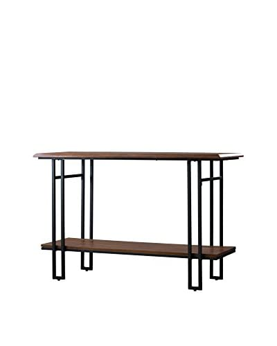 Baxton Studio Newcastle Wood & Metal Console Table, Brown/Antique Bronze As You See