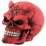 Red Devil Satan Skull Car Auto Gear Shift Shifter Knob Handle