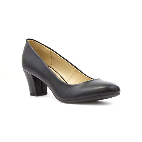 lilley-womens-black-matte-heeled-court-shoe-size-6-black