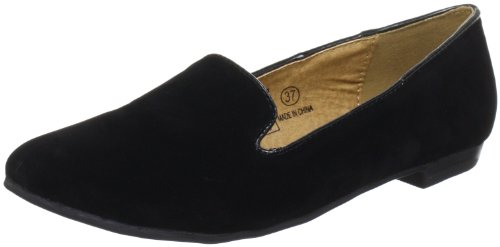 Buffalo Girl 324887 YFY505 SUEDE Slipper Women black Schwarz (BLACK 01) Size: 8 (42 EU)
