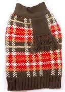 wag-a-tude-Red-Brown-plaid-scarf-sweaterXXL
