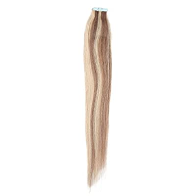 Full Hair 18 Inch Multi-Colors Tape in Premium Remy Human Hair Extensions 10 Pcs Per Set 25g Weight Straight Human Hair Tape Hair Extensions