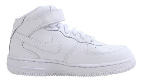 Nike Infants's NIKE FORCE 1 MID (TD) INFANT SHOES 8.5 (WHITE/WHITE/WHITE)