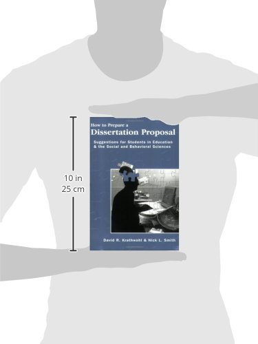 prepare a dissertation proposal The proposal must provide evidence of an applicant's ability to plan and   position to write a perfect proposal at this preliminary stage in the application  process.