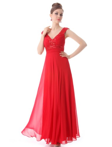 Ever Pretty Gorgeous Sexy Sleeveless Cross Back Evening Dress 09761 ever