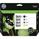 HP 564XL Black 564 Color Ink Cartridg...