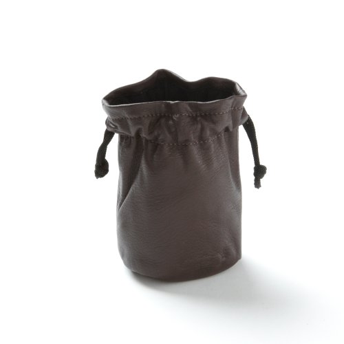 Buy Discount Drawstring Pouch - Chocolate Brown Leather (brown) - Full Grain Leather