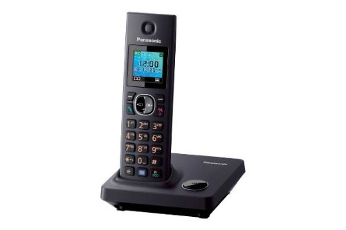 Panasonic KX TG7851GB DECT cordless telephone (3.7 cm (1.5 inches) TFT display) black picture