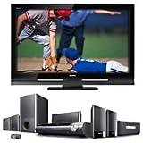 Sony Bravia Z-Series KDL-46Z4100/B 46-Inch 1080p 120Hz LCD HDTV, Black PLUS Sony Bravia Home Theater
