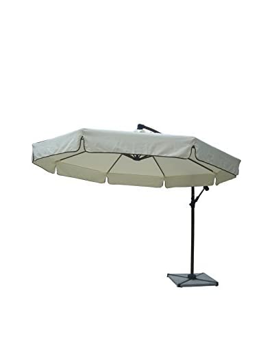 Panama Jack Island Breeze Cantilever Umbrella With Stone Base, Espresso