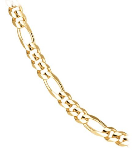 14k Yellow Gold 4.9mm Italian Figaro Chain Necklace, 20""