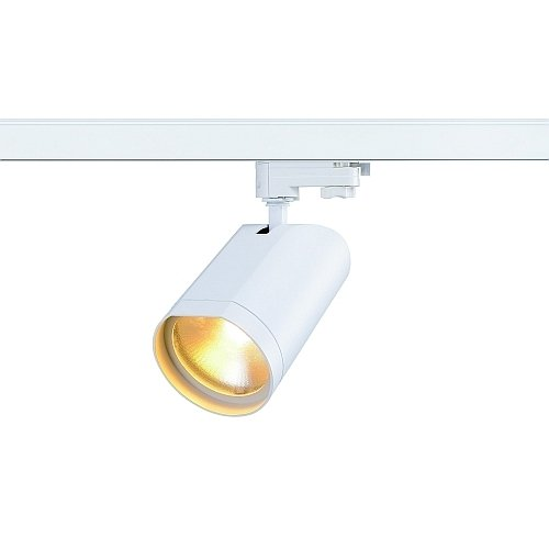 SLV LED 3-Phasen Strahler Bilas Spot Single, 15W, COB, 2700K, 60 Grad, inklusiv Adapter, weiß 152981