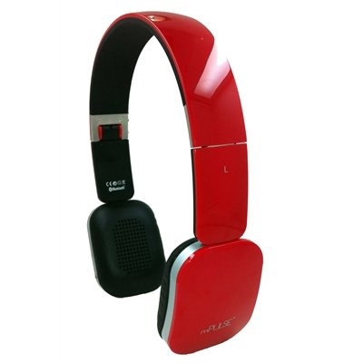 mPulse Rock Bluetooth Wireless Foldable Stereo Headphone for Wireless Music Streaming for iPhone, Samsung Galaxy and Bluetooth enabled Smartphones (Red) mWorks Bluetooth Headsets autotags B00CJL2BB4