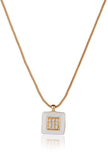 Estelle Estelle Gold Plated Pendant Set With Crystals(025) (Transperant)
