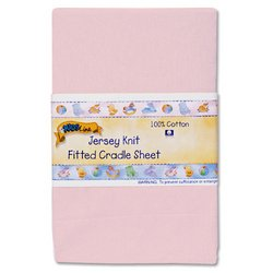 Kids Line Jersey Knit Fitted Cradle Sheet - Pink front-1026902