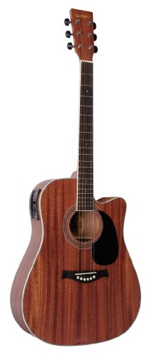 Giannini Guitars Gf-2Ws C El Sapelle Top, Back & Sides Acoustic-Electric Guitar
