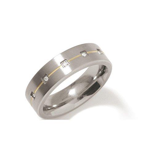 Boccia Damen-Ring Titan 5 Brillianten 0,025 Gr.58 0101-1958 schenken