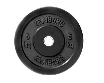 Kraiburg 5 kg Rubber Bumper Weight Plates for Crossfit Powerlifting, One Pair (Eleiko Bumper Plates compare prices)