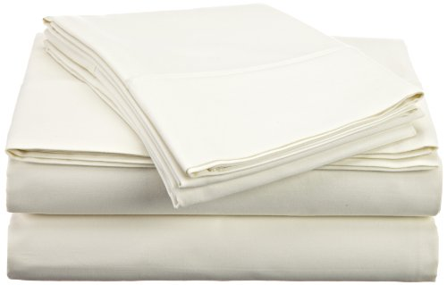 Hn International Group Castle Hill 410 Thread Count 100-Percent Egyptian Cotton Queen Size Sheet Set, Ivory