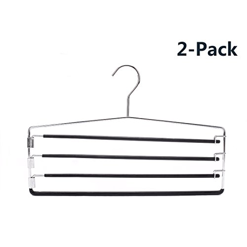 J.S. Hanger® Organize 4-tier Pants Collection, Deluxe Swing Arm Slack/Towel Hanger, 2-Pack система хранения вещей leomax dual hanger 2